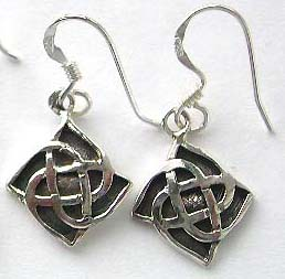 Costume birthday gifts shop supply wholesale sterling silver gemstone earring, celtic sterling silver earring