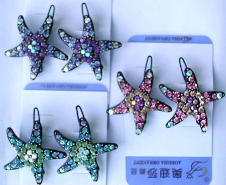 Cz jewelry hair accessory store catalog wholesale cz quality hair clips